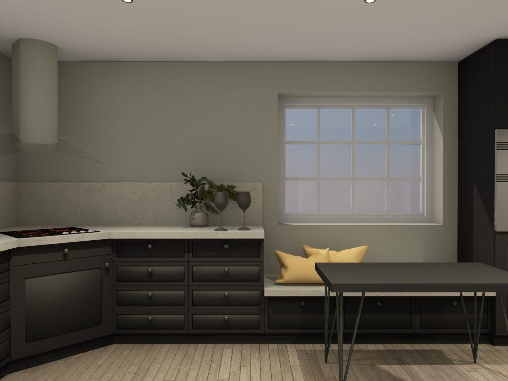 Kjøkkenkrok med spisebord